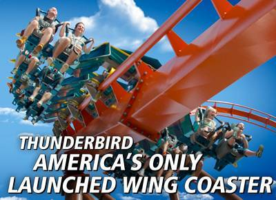 Thunderbird: America's Only Launched Wing Coaster