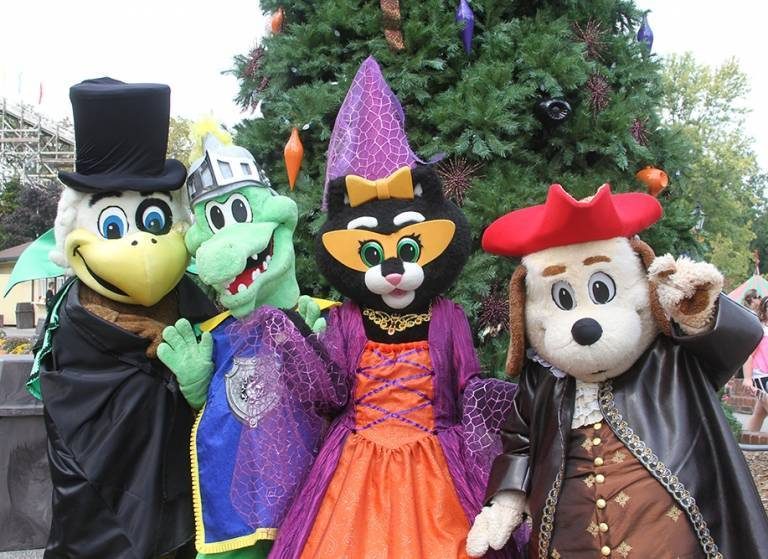 Mascots during Halloween