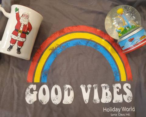 Prizes: T-Shirt, Mug, and snowglobe