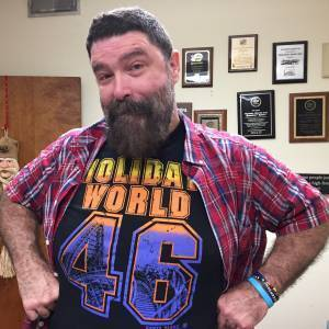 Mick Foley in Paula's office