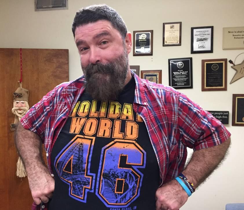 Mick Foley in Paula's office