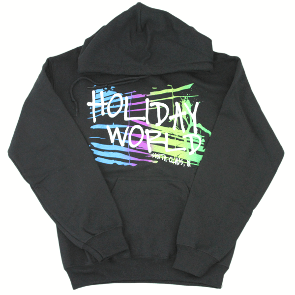 Rainbow Graphic Hoodie – Black – Adult