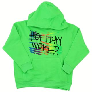 Rainbow Graphic Hoodie - Green - Child
