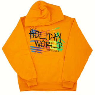 Rainbow Graphic Hoodie - Orange - Adult