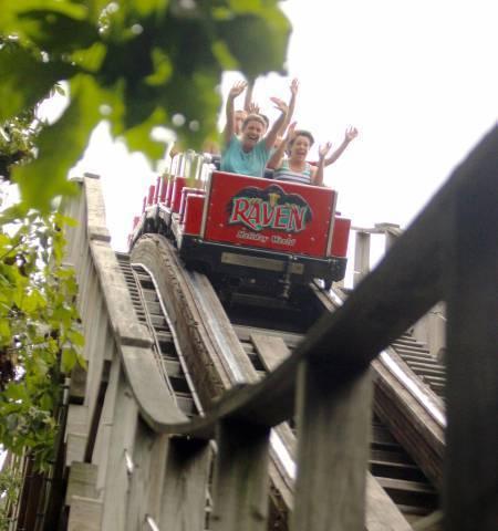 Raven wooden roller coaster