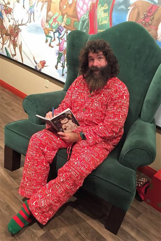 "Mick Foley writing ""Saint Mick"""