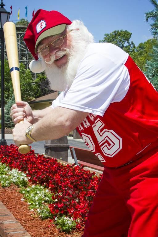 Baseball Santa