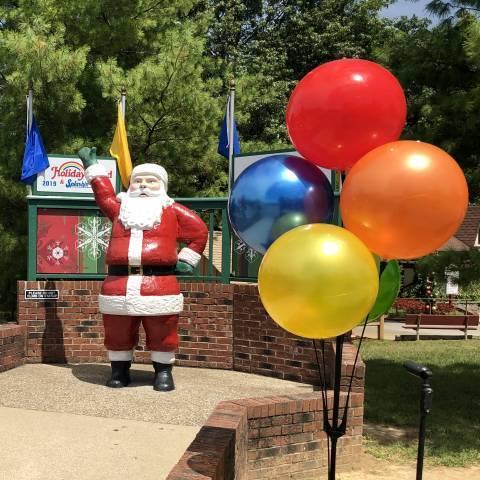 Santa with Kids World Balloons
