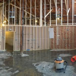 Sugarplum Scoop Shoppe construction
