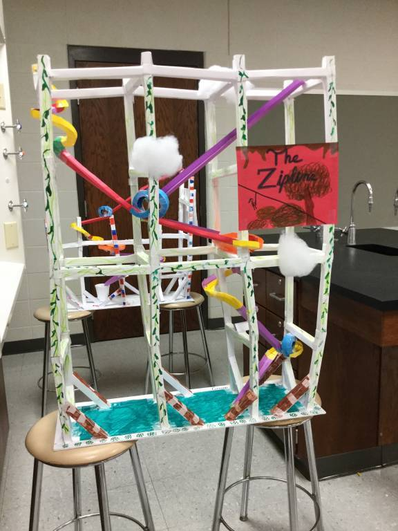 The Zipline coaster design (school project)