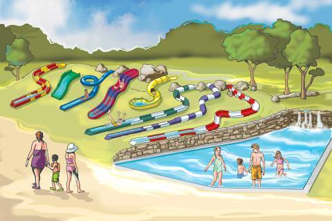 Tembo Tides and Tembo Falls illustration