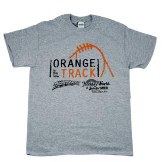 Orange is the New Track T-shirt - Adult - Gray   HoliShop
