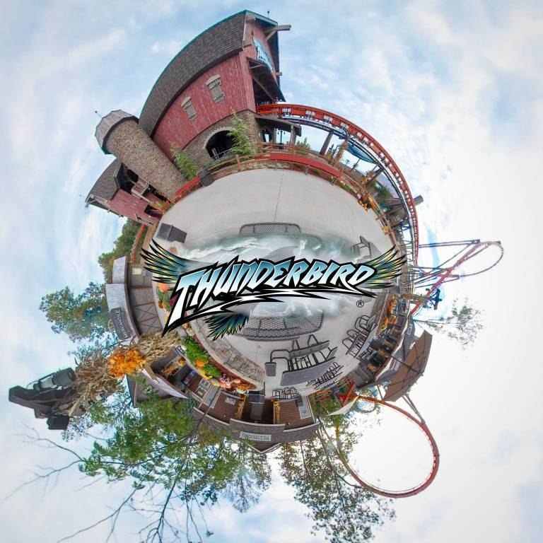 Thunderbird Plaza - Tiny Planet