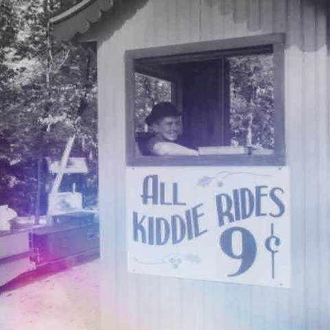 "Ticket Booth from Santa Claus Land - ""All Kiddie Rides 9¢"""