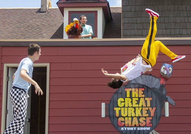 The Great Turkey Chase stunt show
