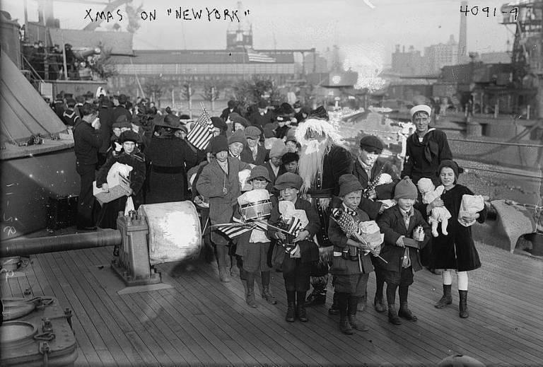 USS New York on Christmas Day, 1916