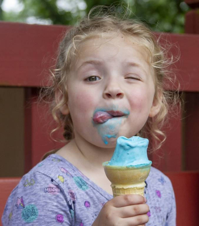 Udderly Blue ice cream
