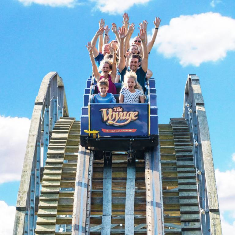 The Voyage Wooden Roller Coaster