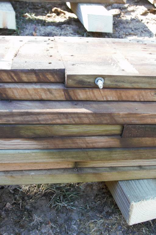 Under the rails are EIGHT layers of staggered wood!