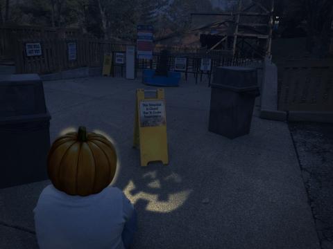 Wayne on Halloween