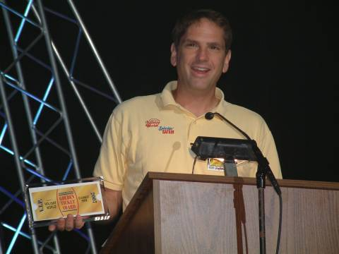 Will Koch at the Golden Ticket Awards