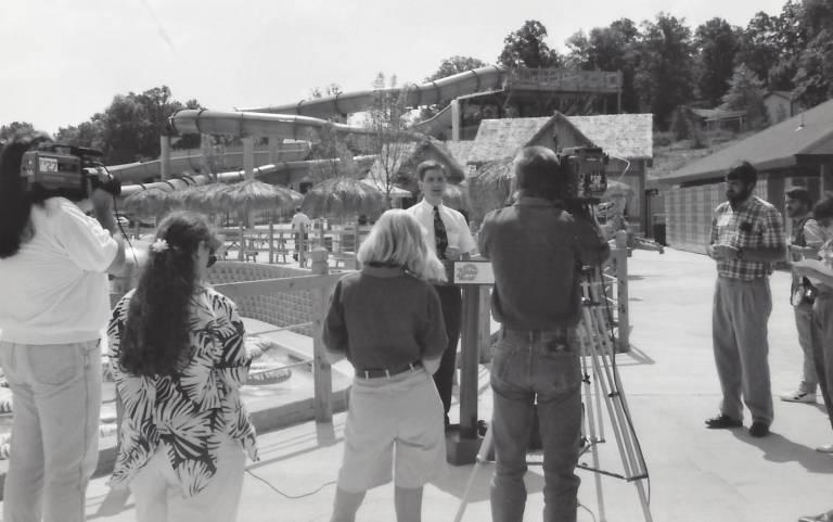 Will Koch at Splashin' Safari opening