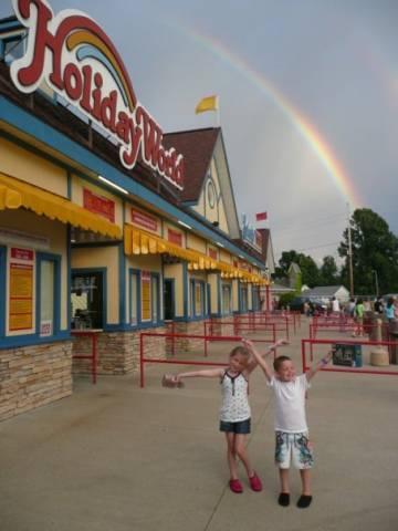 Admissions-area rainbow