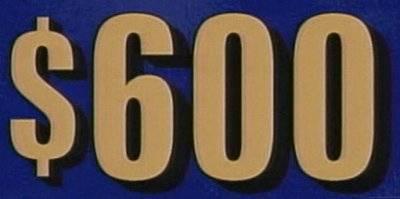 $600 category slate